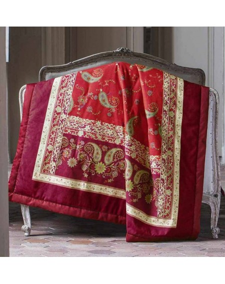 Plaid Granfoulard Raffaello red By Bassetti 130x190 cms