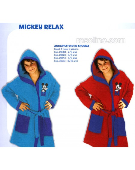 Bademantel Mickey  By Caleffi Made In Italy