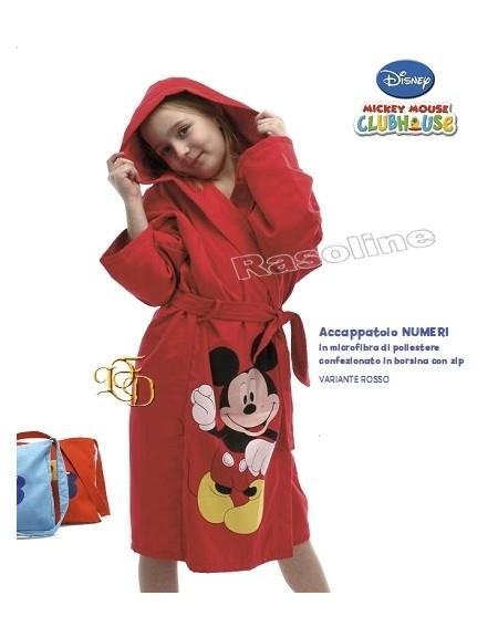 Accappatoio In Microfibra Topolino Mickey Caleffi Disney