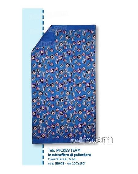 Telo Bagno In Microfibra Topolino Caleffi Colore Blu 100 X 150 Cm