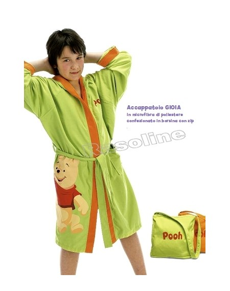Accappatoio In Microfibra Winnie The Pooh Caleffi Disney