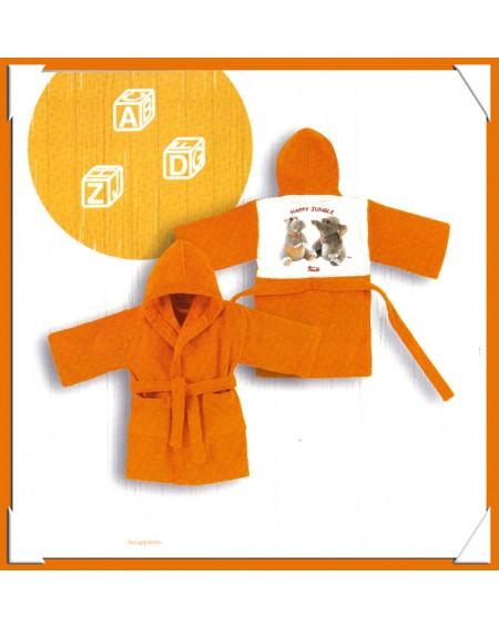 Accappatoio Trudi Happy Jungle Gabel Baby Cotone 100%