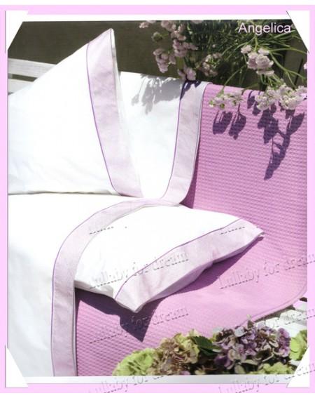 Completo Lenzuola Matrimoniale Percalle Gabel Angelica - Profumo Di Lavanda