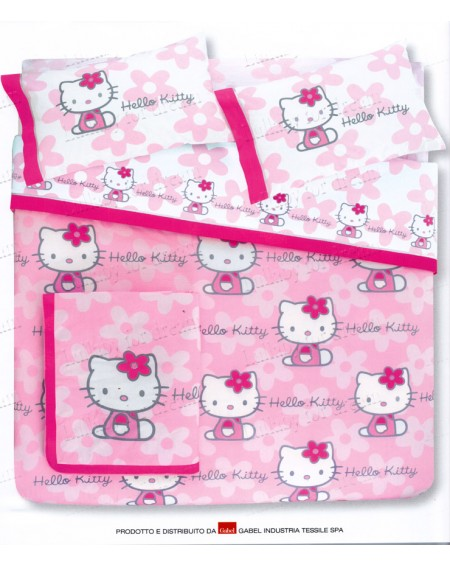Completo Copripiumino una Piazza Hello Kitty GABEL Flowers
