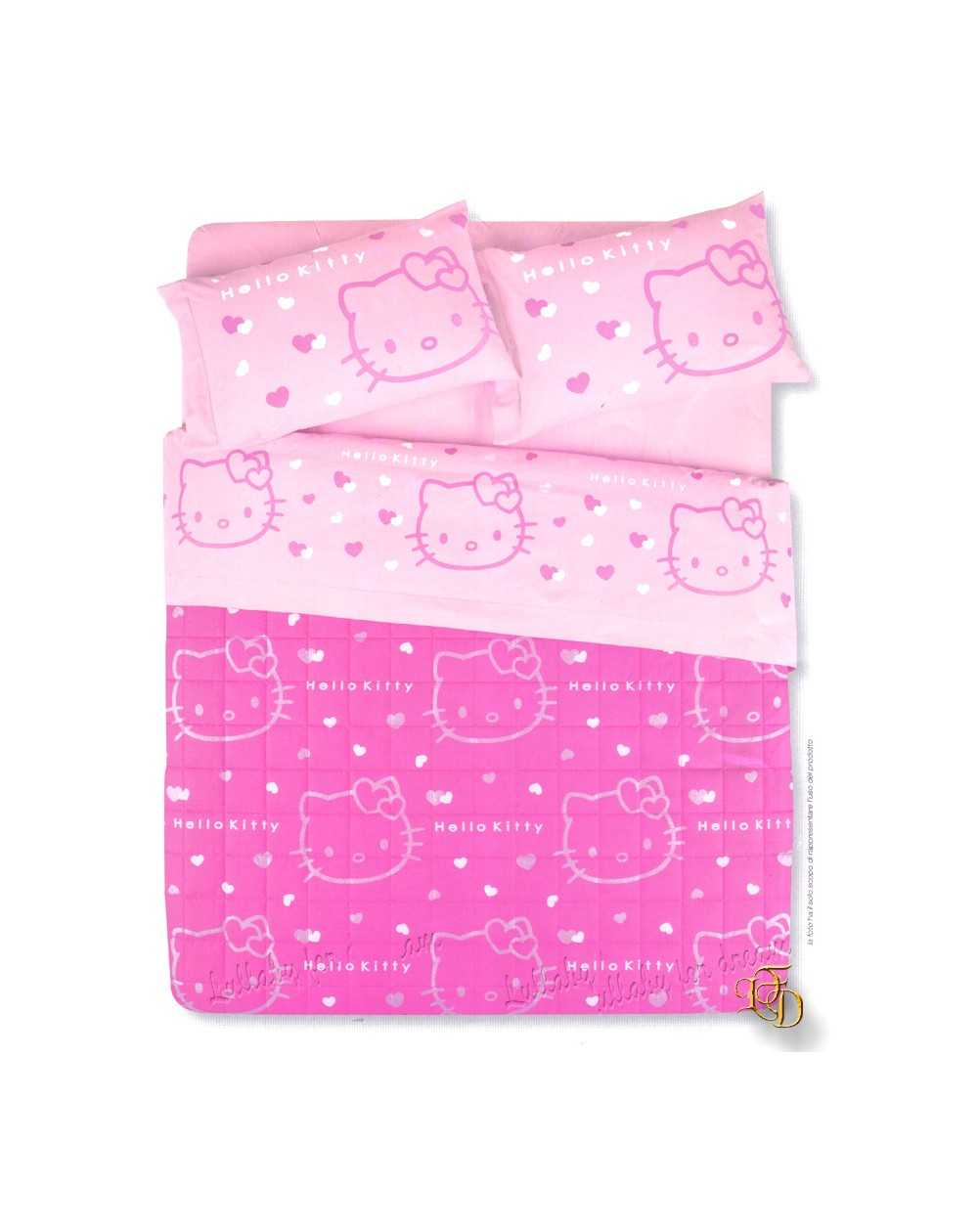 Trapunta Hello Kitty Gabel.Trapunta Invernale Una Piazza Hello Kitty Out Line
