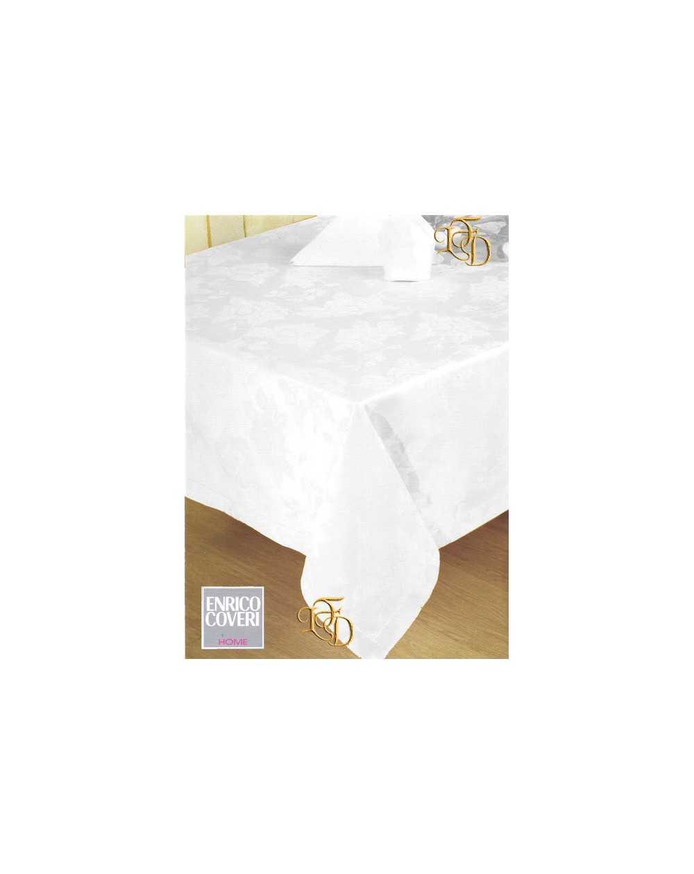 Tovaglie Da Tavola Bassetti.Servizio Tavola X 8 Assisi Bianco Tovaglia 8 Tovaglioli Fiandra Cotone Coveri