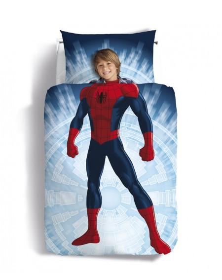 HOUSSE DE COUETTE lit à une place Spiderman Buonanotte