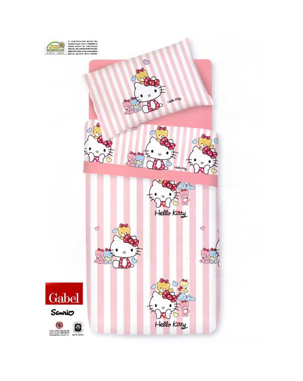 Trapunta Hello Kitty Gabel.Comforter Trapunta Little Friends Single Bed Hello Kitty