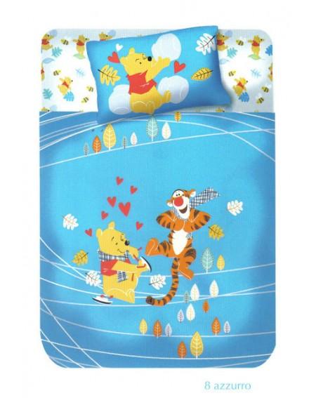 Bettüberwürfe nicht gesteppte Panama Winnie the Pooh Fantasia Himmelblau Caleffi Disney