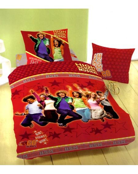 Garnitur einzelbett High School Musical Disney Bettbezug + Bettlaken + Kissenbezüge