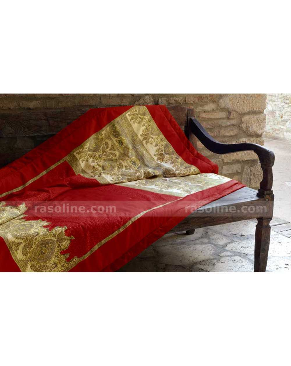 plaid bassetti granfoulard table de lit. Black Bedroom Furniture Sets. Home Design Ideas
