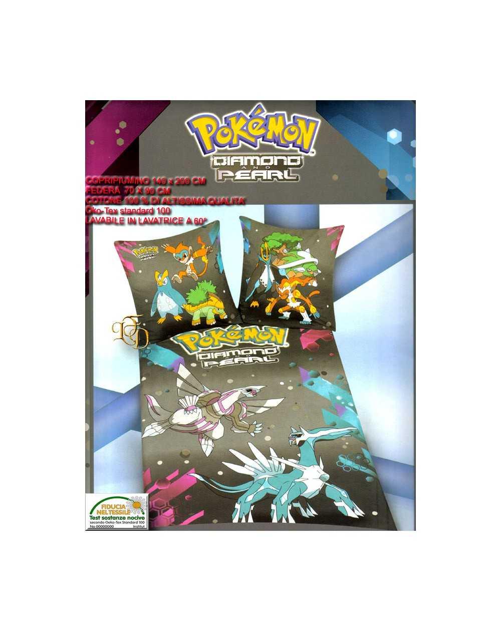 Copripiumino 100 X 140.Completo Letto Singolo Pokemon Copripiumino E Federa