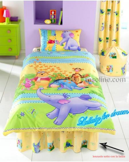 Bettlaken einzelbett maße Winnie The Pooh Heffalump