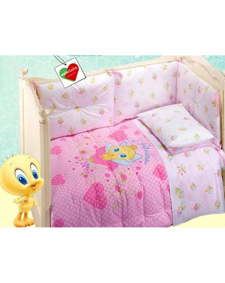 Edredon et Tour de lit Tweety BABY Caleffi Princess