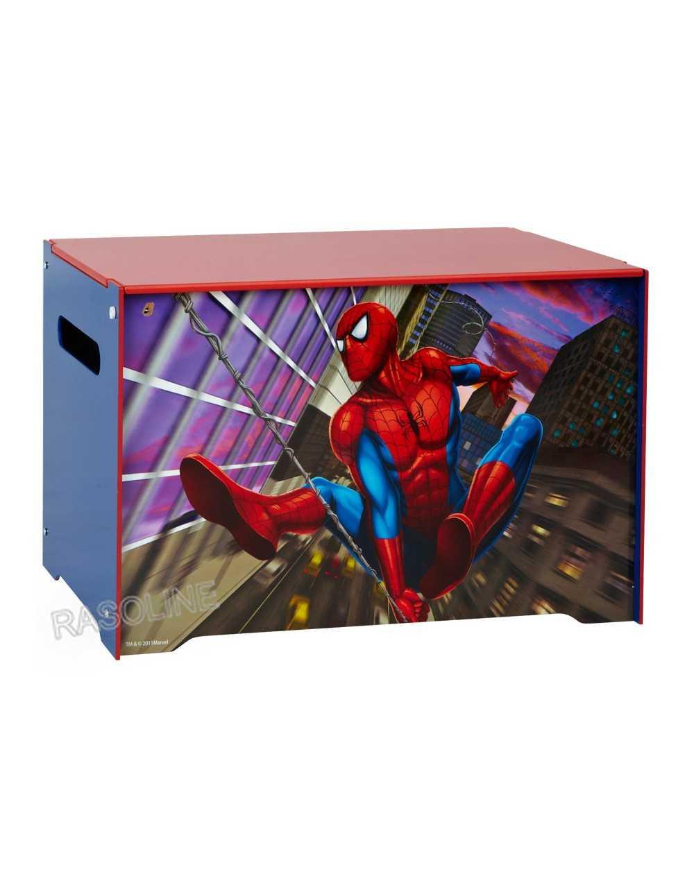Cassapanca portagiochi contenitore spiderman disney   rasoline ...