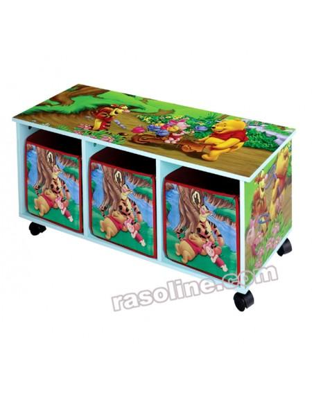 Cassettiera Con Rotelle Winnie The Pooh Disney