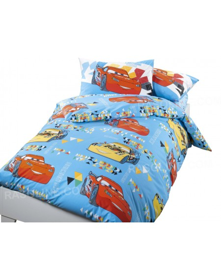 Duvet Set single bed Cars Colors Disney Caleffi