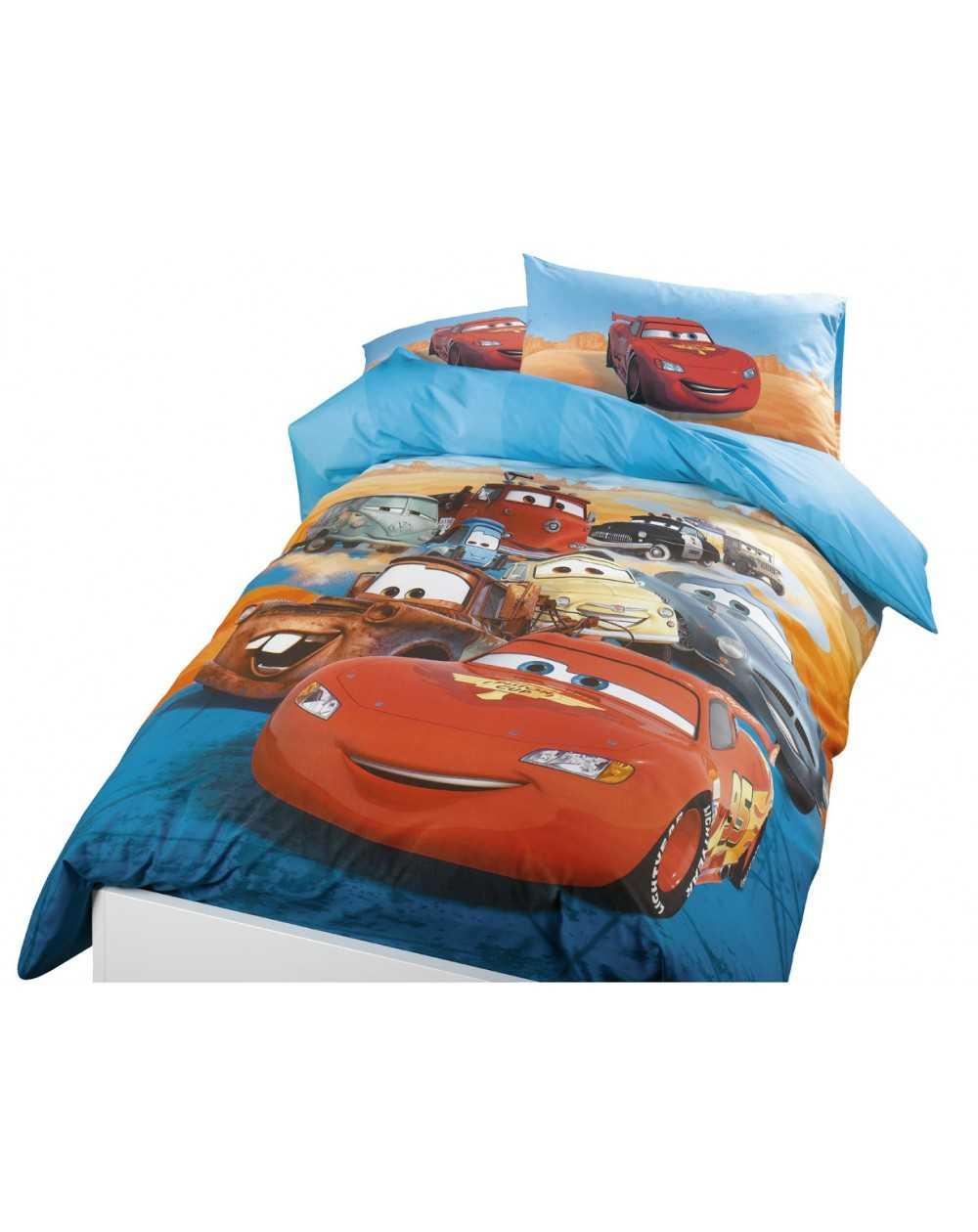 Completo Copripiumino Caleffi Disney.Parure Letto Singolo Copripiumino Cars Flash Disney Box Regalo Esclusivo