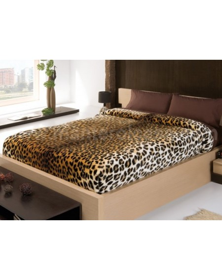 Bettüberwürfe - decke doppelbett Leopard