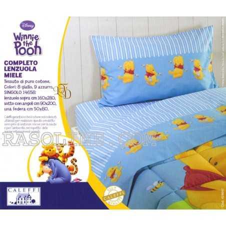 Garnitur Bettlaken einzelbett maße Winnie The Pooh Caleffi