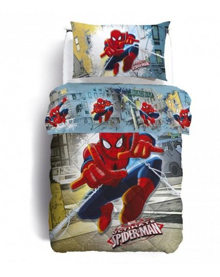 Parure de lit pour lit 1 personne Set Draps Spiderman Broadway