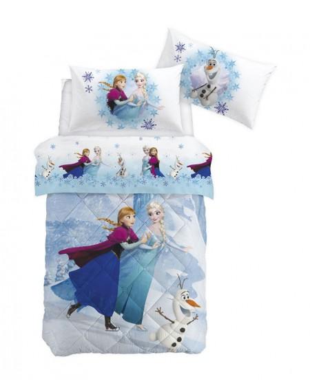 Single Bed SET Flat sheet, pillowcases Frozen Elegance