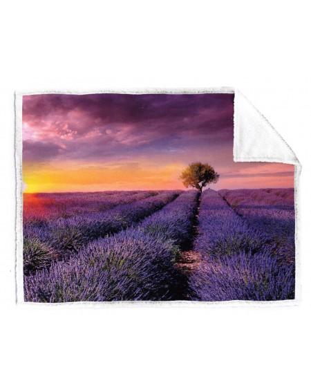 Coperta Plaid Lavender Sunset Caleffi