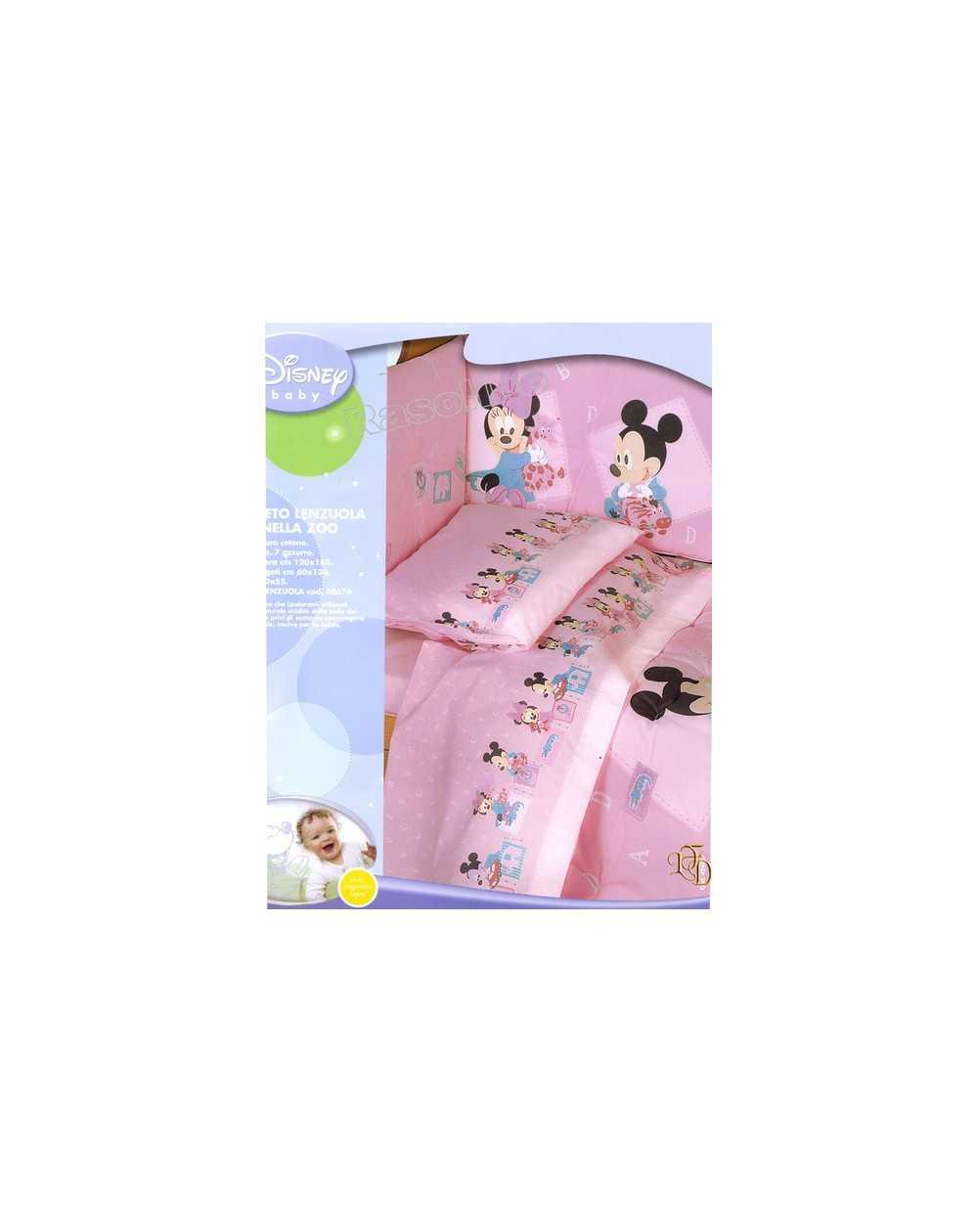 Lenzuola Matrimoniali Con Topolino E Minnie.Flanella Completo Lenzuola Per Lettino Minnie Baby Disney Colore