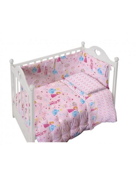 Baby-Bettwäsche Garnitur Spannbettlaken Spannbetttuch Petit Princess