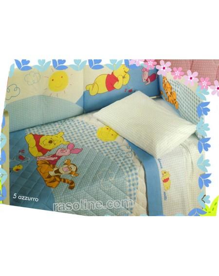 Baby-Bettwäsche Garnitur Überschlaglaken  Spannbetttuch Winnie
