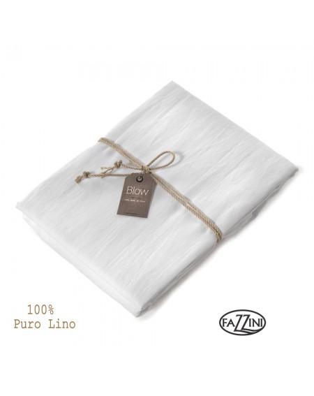 Drap dessus de lit de lin blanc SOFFIO Fazzini