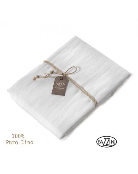 bajera tejido in lino SOFFIO blanco
