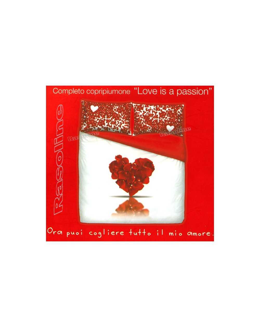 Completo Copripiumino Letto Matrimoniale Love Is Passion By Bassetti - Rosso - Rasoline L.F.D. Home