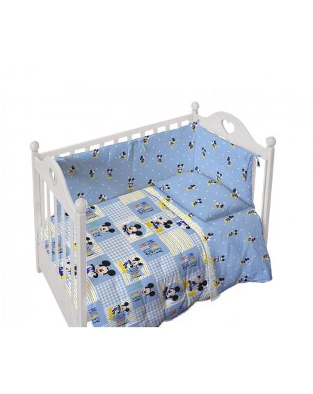 Bettdecke gepolstert Braucht keinen Bezug + Bedbumper Nestchen FOREVER Mickey