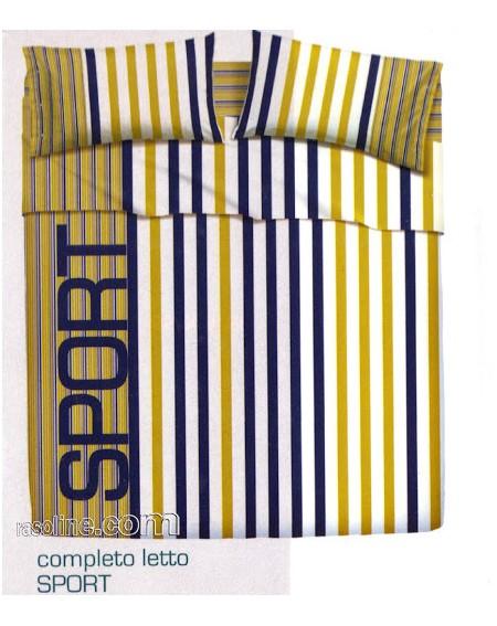 Parure de lit pour lit 1 personne Set Draps Sport Bassetti