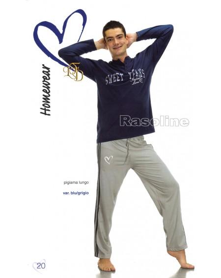Schlafanzug Man Sweet Years blau Caleffi Tg L,Xl