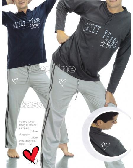 Schlafanzug Man Sweet Years grau Caleffi L,Xl