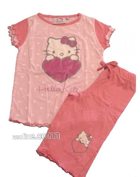 Schlafanzug Hello Kitty * Heart * Gabel Made In Italy