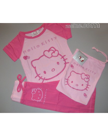 Schlafanzug Hello Kitty Out Line Gabel Made In Italy 4-11 Jahre