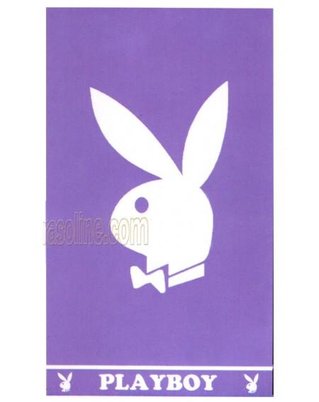 Playboy Beach Towel. 100% cotton velour 90 x 170 cm Lilac