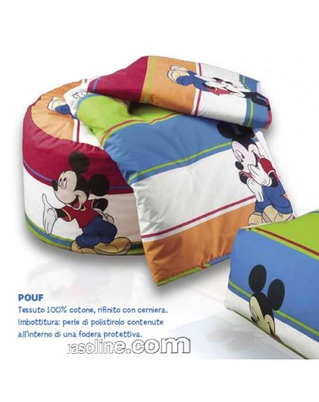 Pouf Disney Caleffi Mickey Mouse en coton