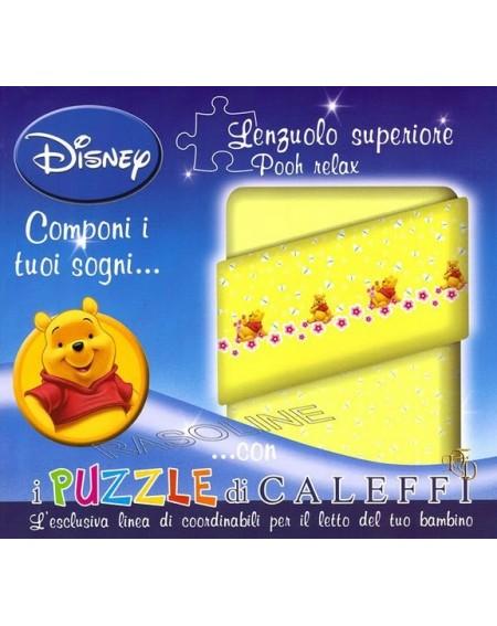 Bettlaken Winnie The Pooh Caleffi- Farbe gelb