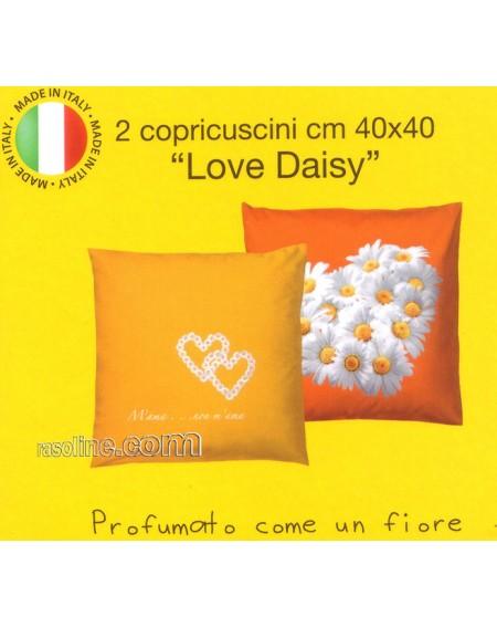SET DUE FEDERE-COPRICUSCNI LOVE DAISY BASSETTI ARANCIO