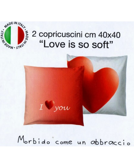 SET 2 FEDERE-COPRICUSCNI LOVE IS SO SOFT BASSETTI ROSSO