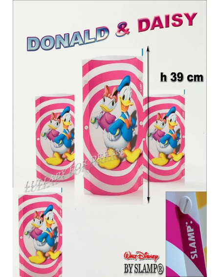 "Lampada Applique ""Donald & Daisy"" Disney Originale Slamp"