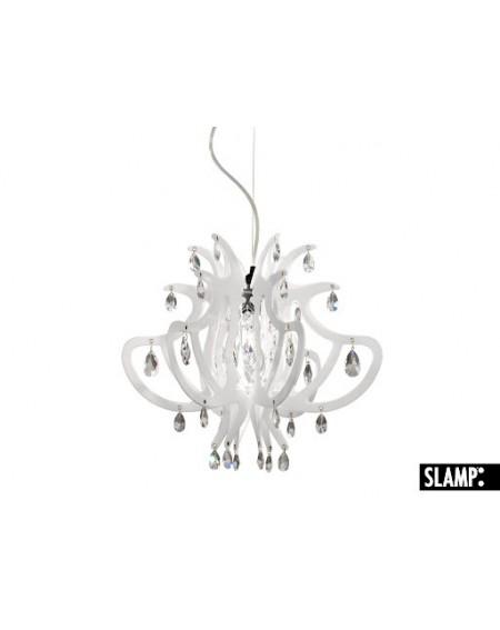 Lampada Sospensione Lillibet Mini Col.  Bianco Slamp Con 42 Cristalli