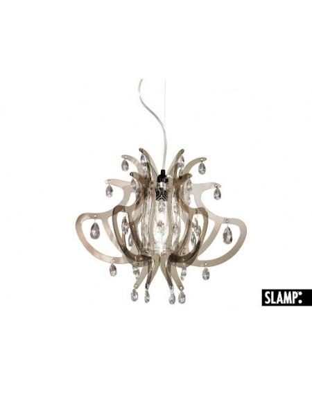 Lampada Sospensione Lillibet Mini Col.  Fume' Slamp Con 42 Cristalli