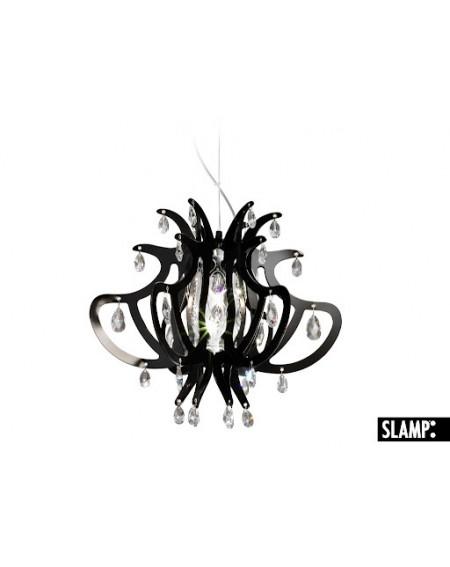 Lampada Sospensione Lillibet Mini Col.  Nero Slamp Con 42 Cristalli