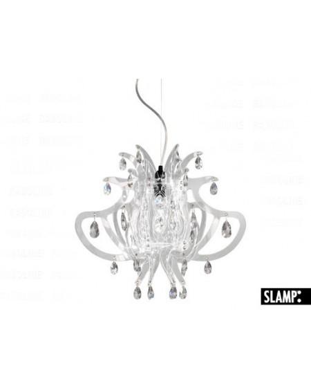 Lampada Sospensione Lillibet Mini  Trasparente Slamp Con 42 Cristalli