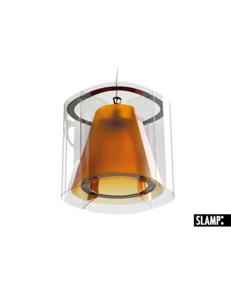 Lampadario Lampada A Sospensione New Harris Slamp Colore Arancio Amber